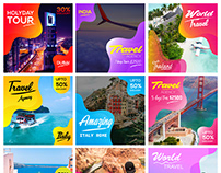 Travel Agency Social Media Design