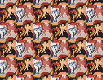 Repetitive Cherub Pattern