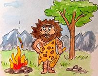 Рисовала кроманьонца - получился Джигурда