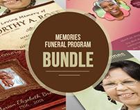 Memorial Funeral Program Bundle
