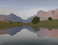 Madagascar digital painting