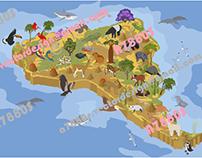 South America isometric map