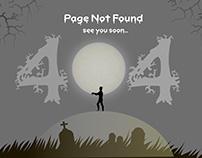 #DailyUi 008- 404 Error Page