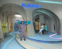 Burton shop interior design