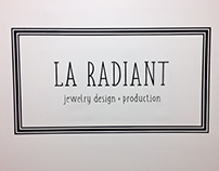 Hand painted sign at the offices of La Radiant (NYC)