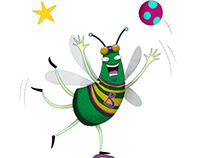 Character Design - Green Bee