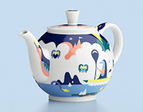 Crate & Barrel teapot