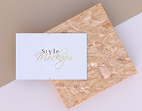 Business Card Kit Mockups Scene Set