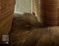 竹子环绕的曲线美 —一点咖啡设计