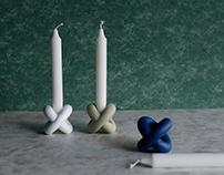 THE X CANDLEHOLDER