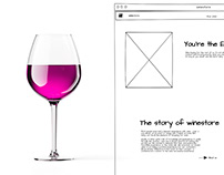 E-commerce design for winestore