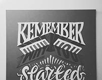 Handmade lettering 2017
