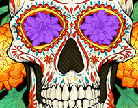 Dia De Los Muertos Illustration for Adobe MAX talk