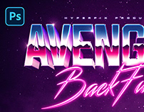 Synthwave Retro Text and Logo Effect Vol.2 PSD Template