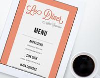 Le Diner a San Francisco Menu Design