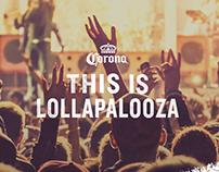Cerveza Corona - Lollapalooza