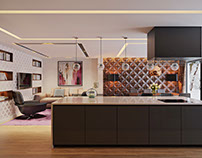 Home Interior Design: Modern and Lovely. Rendering by A