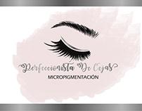 Diseño de logo y tarjetas perfeccionista de cejas