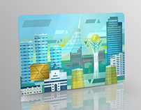 Astana city. Credit card.