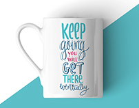 Keep Going - Lettering