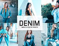 Free Denim Mobile & Desktop Lightroom Presets