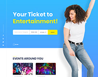 Event Booking Landing page