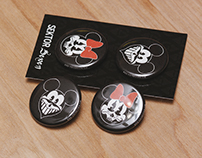 Mickey & Minnie Mouse Pinback Buttons