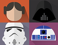 Flat Design - Star Wars