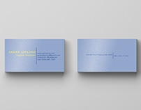 Designing Personal Business Cards