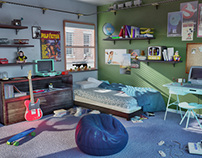 Hipster Room - 3D