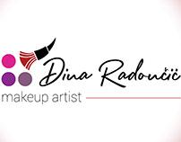 Dina Radoncic Makeup Artist Logo Design
