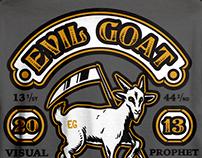 Evil Goat Tattoo Shop T-Shirt 2017