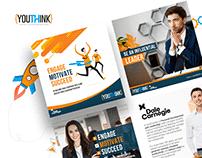 Youthink Social Media Posts, Website UI/UX