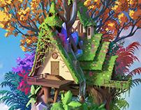 Vegetal house