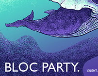 Bloc Party gig poster