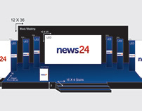 Stage Design for News Channel Event.