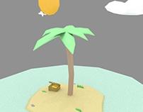 Low poly island design Sketchfab