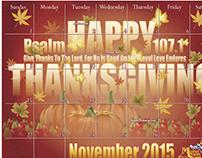 Thanksgiving Calendar Design