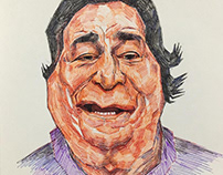 Pen Caricature - Late Mr. Kader Khan