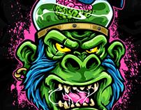 Monkey brain illustration