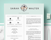 Professional & Modern Resume Template for word & Pages