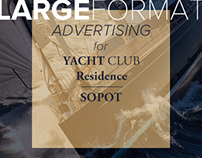 Graphic design advertising for Yacht Club Residence