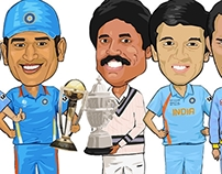 CircBuzz - World Cup Captains' Caricatures 2015