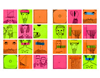 Post-it-portraits