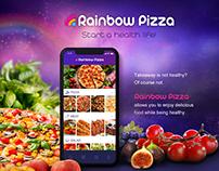 Rainbow Pizza UX UI