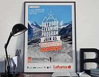 Lafuma, Nettoyage de la mer de glace, affiche 2015