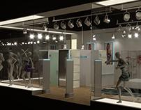 "3D visualization concept for ""Apollon sport"" store"