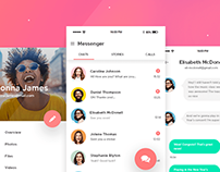 Web & mobile UI design: Messenger app