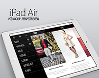 iPad Air application for online store.