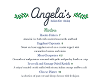 Angela's Italian Fine Dining: Menu Design